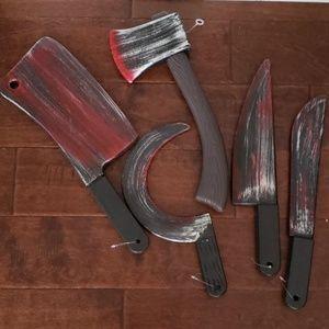 Other - HALLOWEEN  plastic tools. Set of 5.